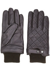 Barbour knitted hem quilted gloves