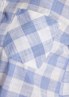 Barbour Pier Plaid Tie Hem Blouse