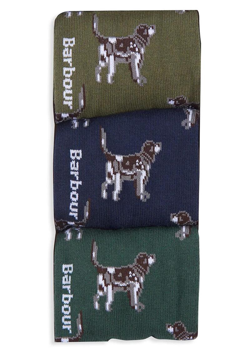 Barbour Three-Pack Pointer Dog Socks