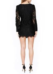 Bardot Anika Lace Long Sleeve Cocktail Minidress