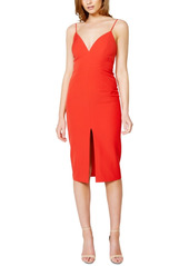 Bardot Ava Slit-Front Midi Dress
