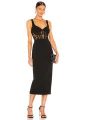 Bardot Corset Lace Panel Dress