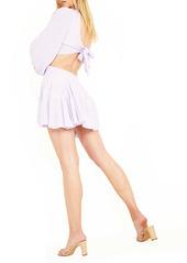 Bardot Cutout Frill Minidress