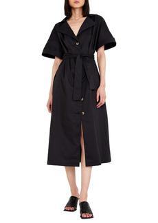 Bardot Day Tie Waist Midi Shirtdress