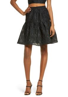 Bardot Demi Floral Jacquard Skirt
