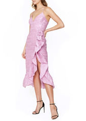 Bardot Emmaline Floral Taffeta Cocktail Dress