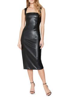 Bardot Faux Leather Jolie Midi Sheath Dress