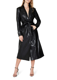 Bardot Faux Leather Trench Coat