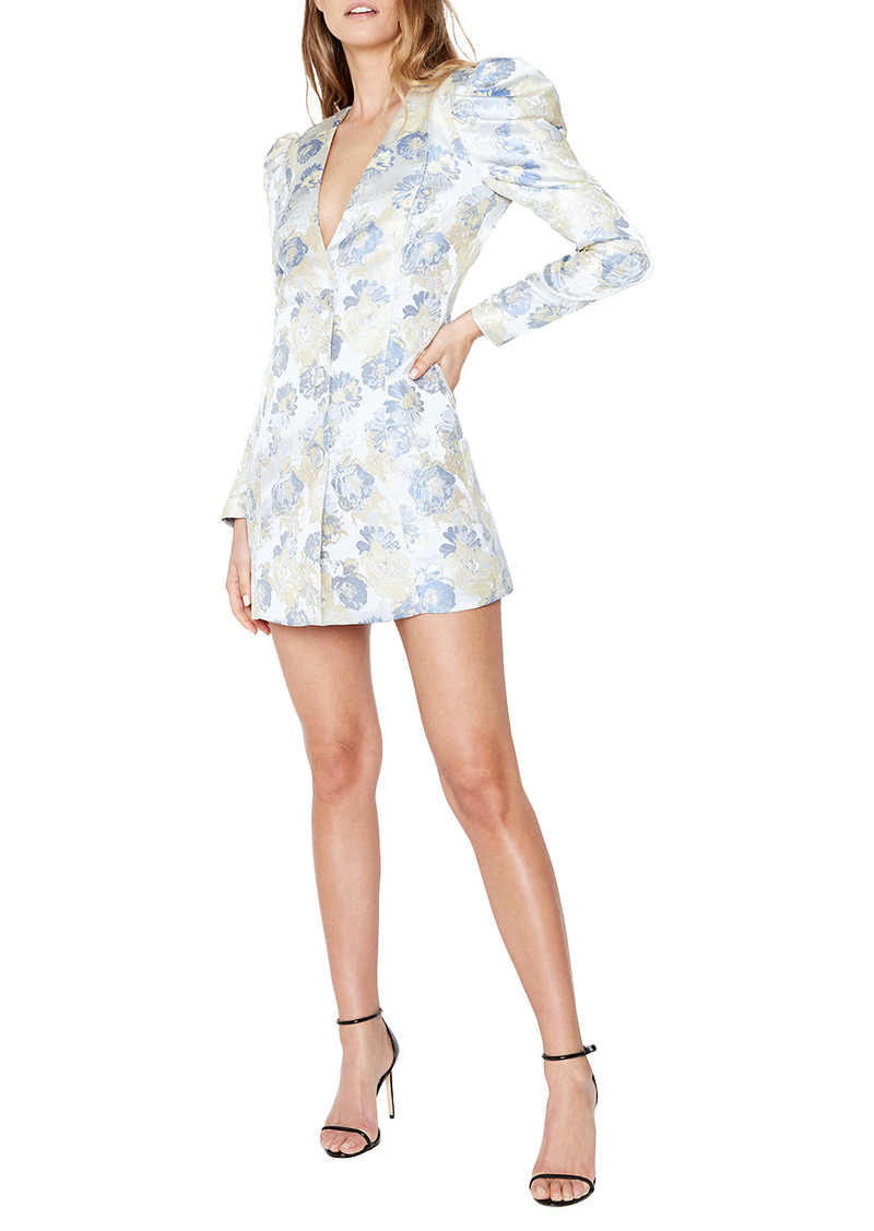 Bardot Floral Jacquard Long Sleeve Minidress
