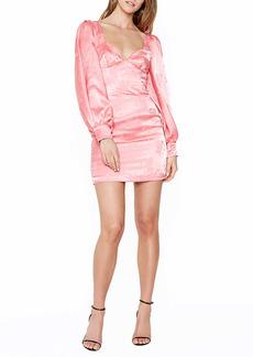 Bardot Floral Long Sleeve Body-Con Minidress