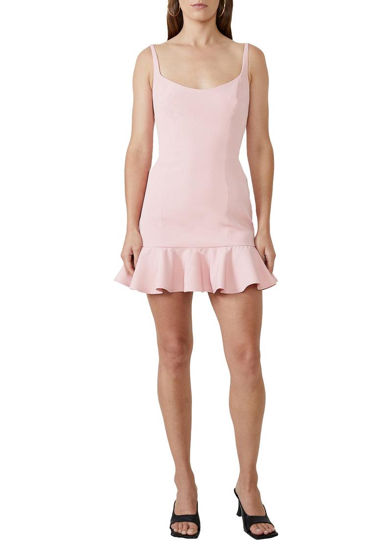 Bardot Gigi Ruffle Hem Fit & Flare Minidress