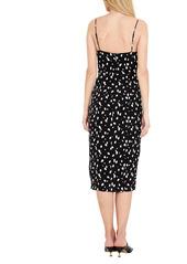 Bardot Graphic Spot Side Slit Midi Dress
