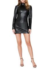 Bardot Harley Faux Leather Long Sleeve Minidress
