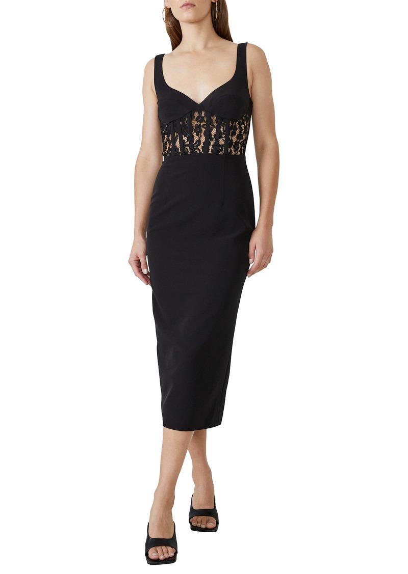 Bardot Lace Corset Cocktail Dress