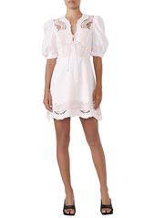 Bardot Lani Embroidered Cotton Dress
