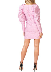 Bardot Loriana Textured Long Sleeve Minidress