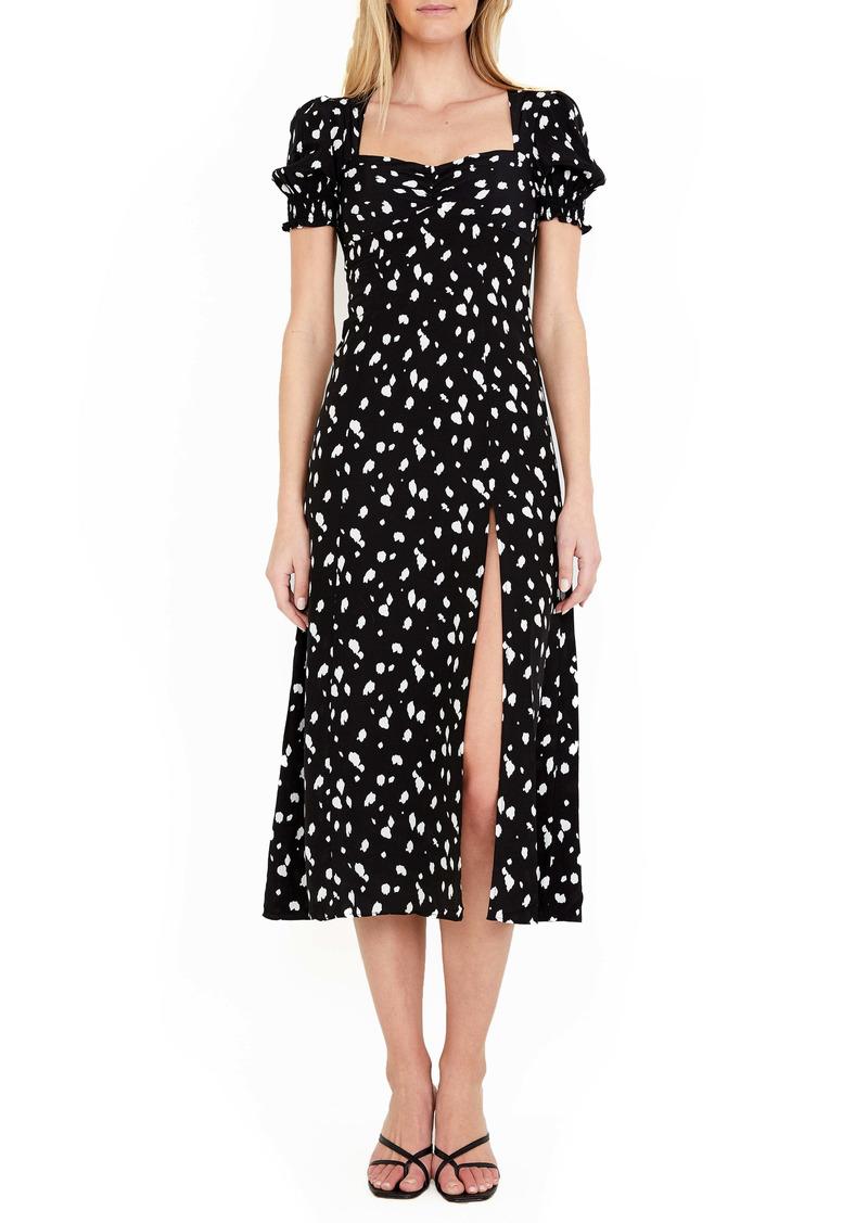 Bardot Millie Spot Midi Dress