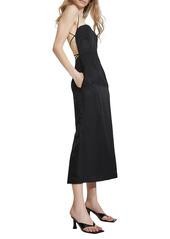 Bardot Mindy Strappy Open Back Linen Blend Dress