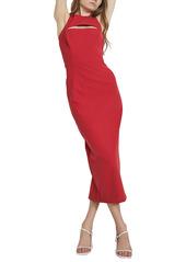 Bardot Natalia Slit Detail Crepe Midi Dress