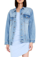Bardot Oversize Denim Trucker Jacket