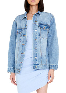 Bardot Oversize Denim Trucker Jacket