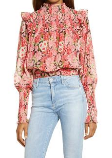 Bardot Remi Floral Long Sleeve Georgette Blouse