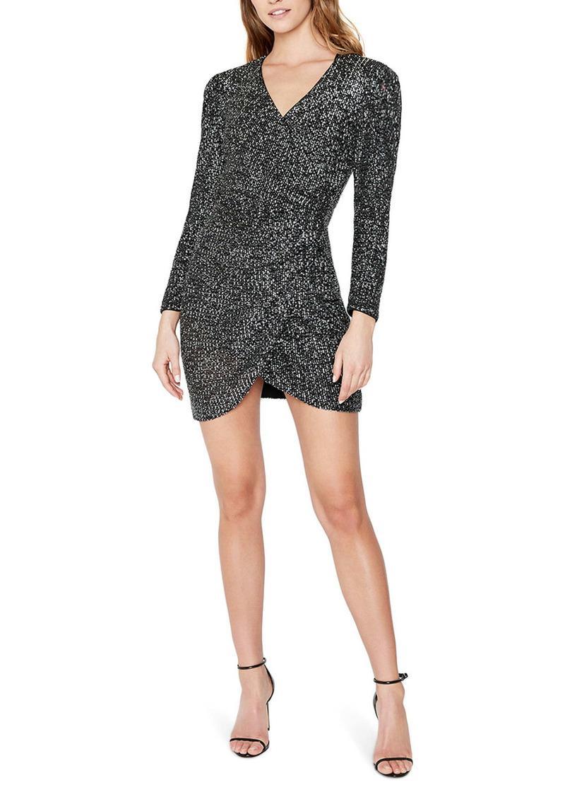 Bardot Sequin Sparkle Long Sleeve Minidress