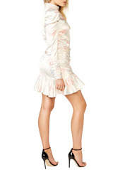 Bardot Sharna Floral Long Sleeve Cocktail Minidress