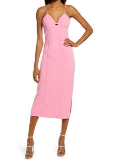 Bardot Tailored Crepe Midi Dress
