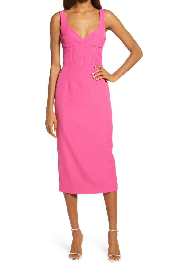 Bardot The Corset Midi Sheath Dress