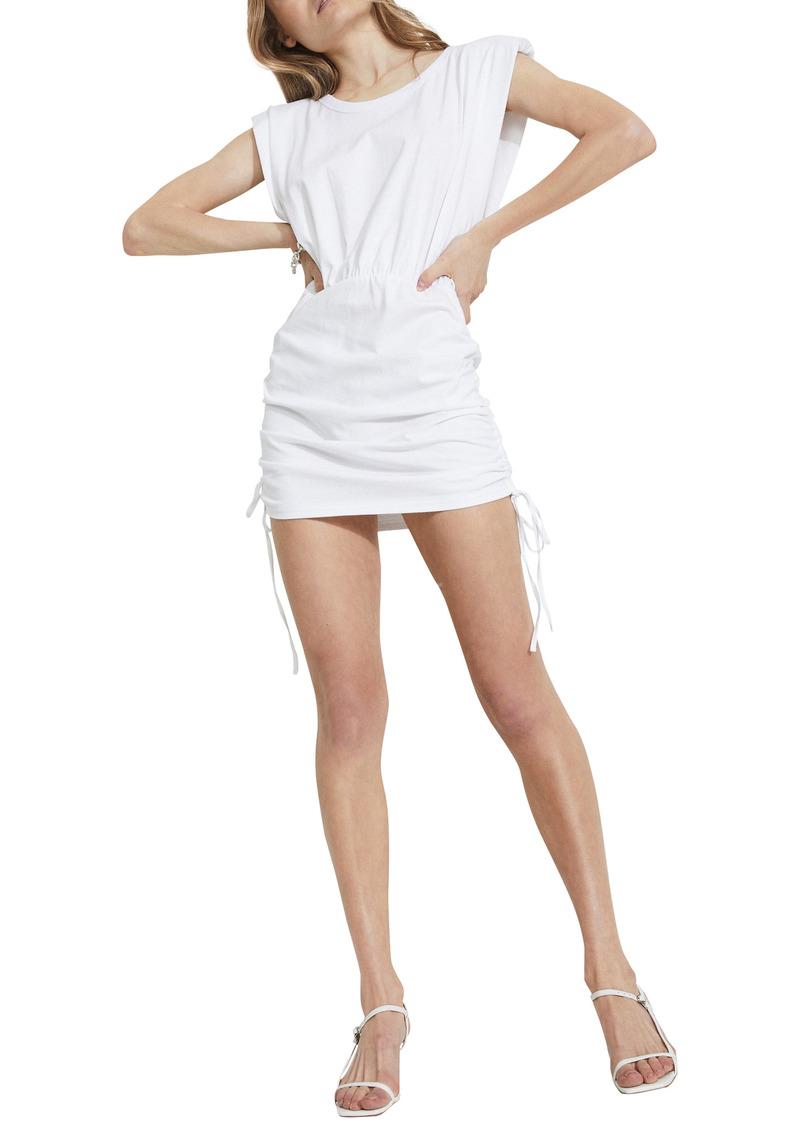 Bardot Toni Shoulder Pad Cotton Minidress