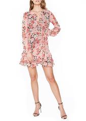 Bardot Triple Frill Long Sleeve Minidress