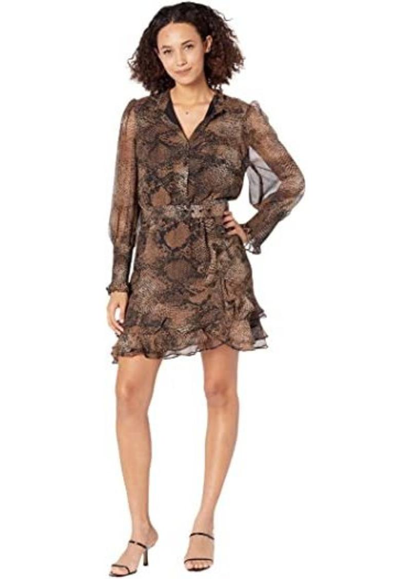 Bardot Bessie Snake Mini Dress