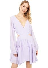 Bardot Cutout Frill Dress