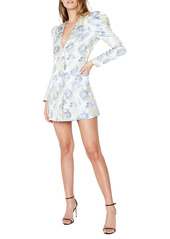 Bardot Floral Jacquard Long Sleeve Minidress