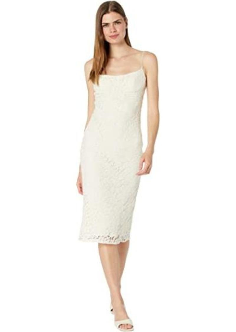 Bardot Lace Bias Midi Dress