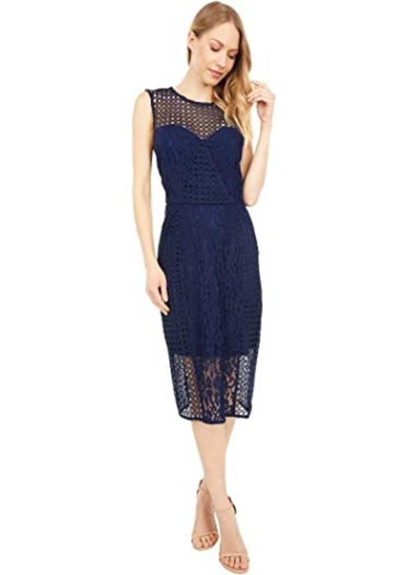 Bardot Mixed Lace Panel Dress