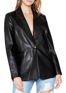 Bardot Vegan Leather Oversized Blazer