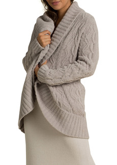 Barefoot Dreams® CozyChic™ Cable Knit Shawl Collar Cardigan