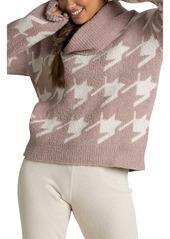 Barefoot Dreams® CozyChic™ Houndstooth Pullover