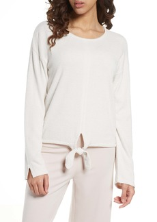 Barefoot Dreams® CozyChic™ Ultra Lite Tie Front Lounge Pullover