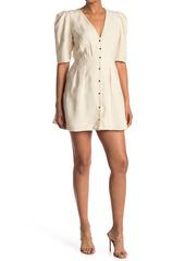 ba&sh Astr Button Front Dress