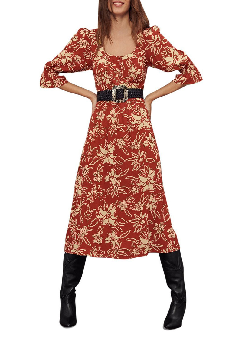 ba&sh Shaya Midi Dress