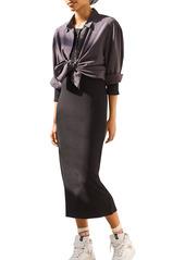 ba&sh Taylor Henley Midi Dress