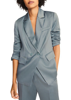 ba&sh Wilie Textured Double Breasted Blazer