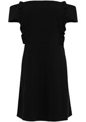 Ba&sh Woman Alie Off-the-shoulder Ruffled Crepe Mini Dress Black