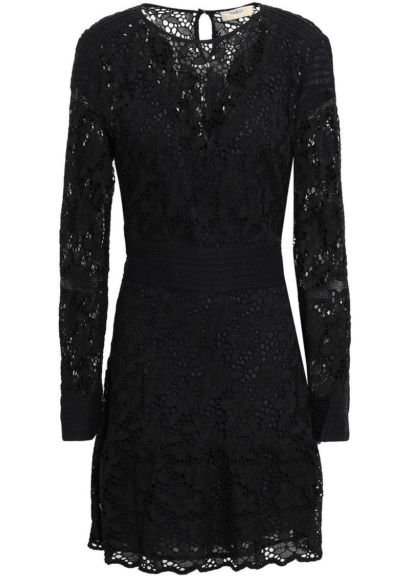 Ba&sh Woman Aphrodite Broderie Anglaise Cotton Mini Dress Black