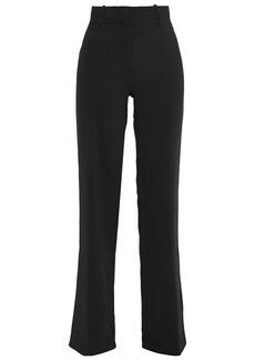 Ba&sh Woman Casila Crepe Straight-leg Pants Black