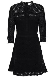 Ba&sh Woman Cotton Lace Mini Dress Black