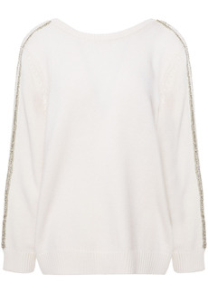 Ba&sh Woman Delhia Embellished Wool And Cashmere-blend Sweater Ivory